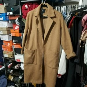 Forever 21 Long Camel Coat size M
